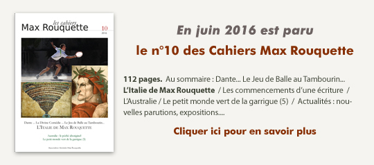 Cahiers Max Rouquette n°10